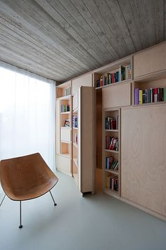 a bookcase with a secret