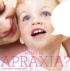 Mommy Speech Therapy: What is Apraxia of Speech? Pinned by SOS Inc. Resources. Follow all our boards at pinterest.com/sostherapy for therapy resources.