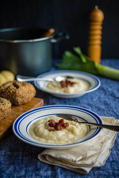 Cauliflower, Leek, & Chorizo Soup | The Hungry Australian
