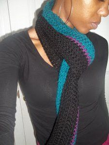 Quick and Easy crochet scarf