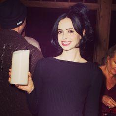 Breaking Bad actress Krysten Ritter, playing Jane in the award winning Drama TV series spotted holding a #Luminara #candle at 2014 Sundance Film!
