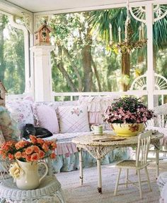 The Simple Country Corner  such a cute shabby chic porch..