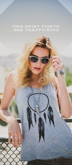 Freedom / Sevenly #shirt #tank {this top helps to fight sex-trafficking - click the image to find out more}