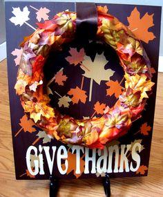Give Thanks Board #diy #tutorial #thanksgiving #decor