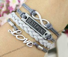 Friendship LOVE bracelet  best friend bracelet  by superbracelet, $4.99 friend bracelet