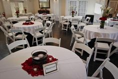 black white and red wedding decor