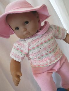 Bitty Baby Doll Clothes Tshirt Leggings Hat by fashioned4you