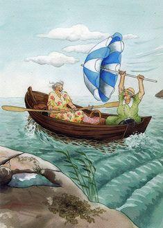 sailing, ing löök, age, umbrella, art