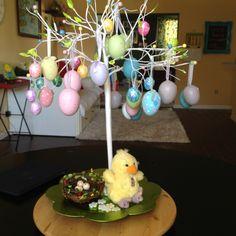 Easter egg tree (courtesy of Owynn's decorating skills)