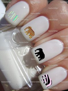 African elephant Nail art nail water decals nail transfers nail wraps 4 designs on Etsy, 1,87€