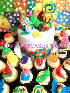 Very Hungry Caterpillar Cake or Cupcake Toppers, $26.99