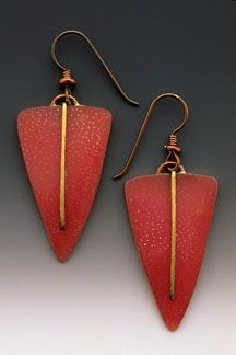 Shield Line Earrings