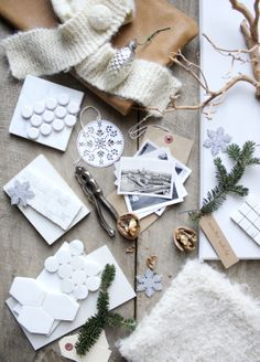 Wintery mood #gift #wrapping #tutorial #DIY #doityourself #handmade #crafts #stepbystep #howto #budget #projects #practical #guide #decor #decorating #home #Christmas #paper