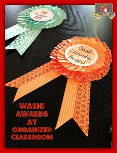 DIY Washi Tape End of Year Classroom Awards! - The Organized Classroom Blog