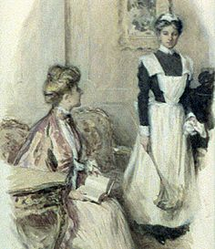 By the Victorian era, servants were seen and not heard. They were expected to go about their work efficiently and quietly and never question their 'betters'. Illustration by Smedley