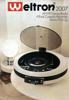Weltron model 2007 (vintage stereo advertisement)
