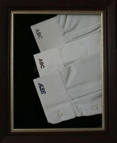 Monogrammed shirt on pinterest cuffs monograms and for Dress shirt monogram placement