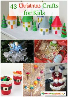 43 Christmas Crafts for Kids: everything you need for Christmas, from homemade ornaments to fun Christmas treats! | AllFreeKidsCrafts.com