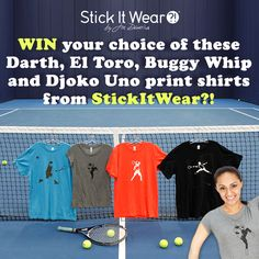 Enter our giveaway to win your choice of these awesome Stick It Wear?! shirts including Darth, El Toro, Buggy Whip, and Djoko Uno prints.    Enter the contest here: http://on.fb.me/KcCNFw    See more from Stick It Wear?! on their website:  http://www.stickitwear.com/