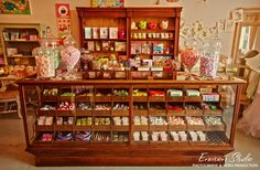 Vintage candy shop counter