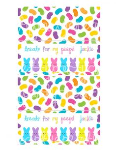 PEEPS easter treat bag toppers - YOU PRINT
