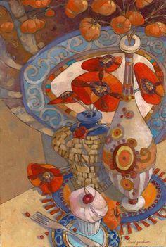 Autumn Still Life 7x5 Oil Painting by David Galchutt