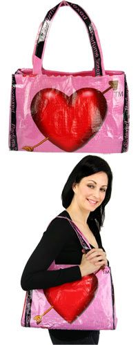 L'Amour Recycled Rice Bag Shoulder Bag at The Hunger Site