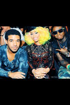 Drake, Nicki Minaj and Lil Wayne. #YMCMB ♥