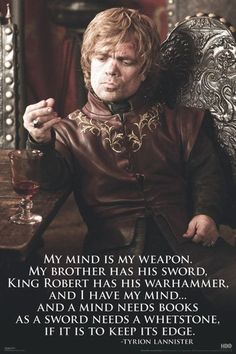 Tyrion Lannister on Books!