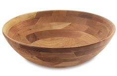 These Cherry Wood Salad Bowls