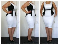 Curvy Wordy: AX Paris Monochrome Dress