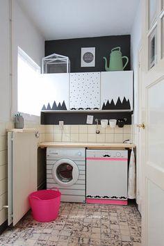 DIY: Cuarto de la lavadora con wahi tape, pegatinas y papel adhesivo. : x4duros.com