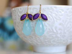 Annabelle Earrings - Blue