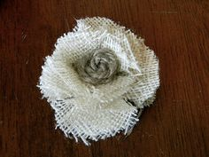 Little Bit of Paint: Burlap Flower Tutorial