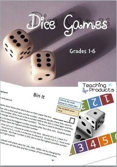 Dice Games - 10 engaging math games #STEM