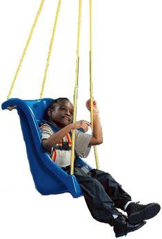 The Special Needs High Back Swing is designed for children and adults who require mild to moderate support while swinging.