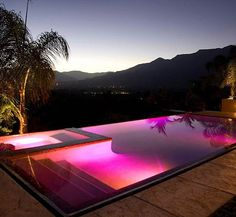lights, swimming pools, lighting, purple, dream pools, colors, the edge, hous, pink