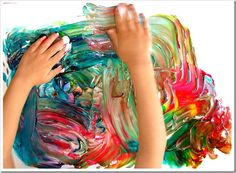 Summer Time Finger painting...