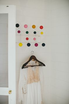 coat rack // photo by Shane Shepherd // http://ruffledblog.com/byron-bay-farm-wedding