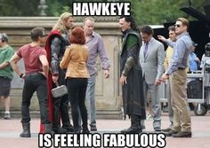 hawkeye :) hawkey, cape, captain america, funni, jeremy renner, feel fabul, movie nights, laughter, the avengers
