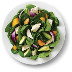 Kraft Anything Dressing : Chicken Mango Spinach Salad