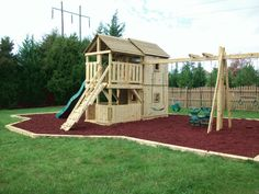 Backyard Playground   Hand Crafted Wooden Playsets - Gallery