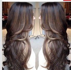 Long brown hair with lowlights