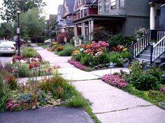 Sidewalk Garden Ideas