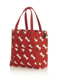 Canvas Doggie Tote by Baggu for Crate & Barrel - Dog Milk