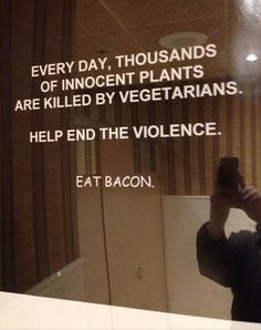 plant, eat bacon, ron swanson, funny pics, funny pictures, funni, funny images, funny quotes, funny photos
