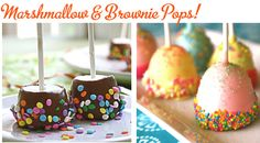marshamallow brownie pops