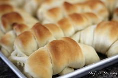 We love this roll recipe from Chef in Training! Super easy, and taste so good! #chefintraining #rolls