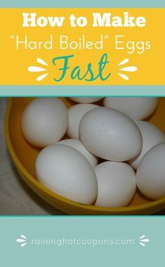 "How To Make ""Hard Boiled"" Eggs Fast!"