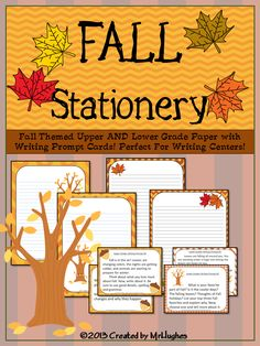"""FREE- This set of FALL Upper and Lower Grade themed writing stationery is PERFECT for your writing centers, creative writing lessons, or just """"because"""". Happy Fall from Created by MrHughes"""